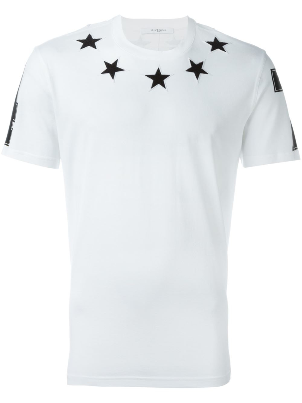 Givenchy star embroirdered t shirt in white for men save for Givenchy star t shirt