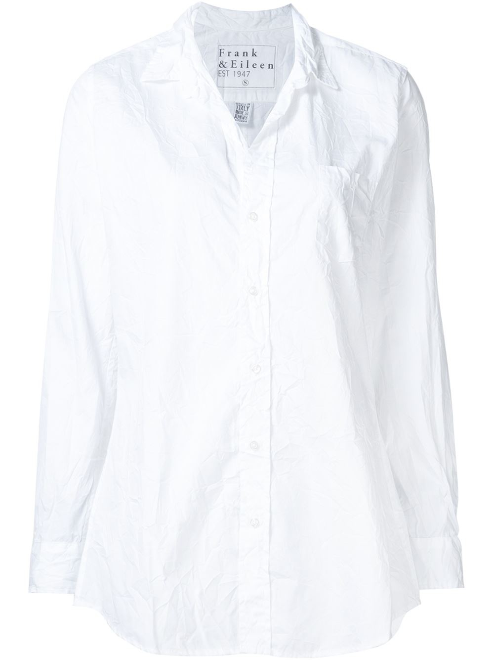 Frank Eileen 39 Shirley 39 Creased Shirt In White Lyst
