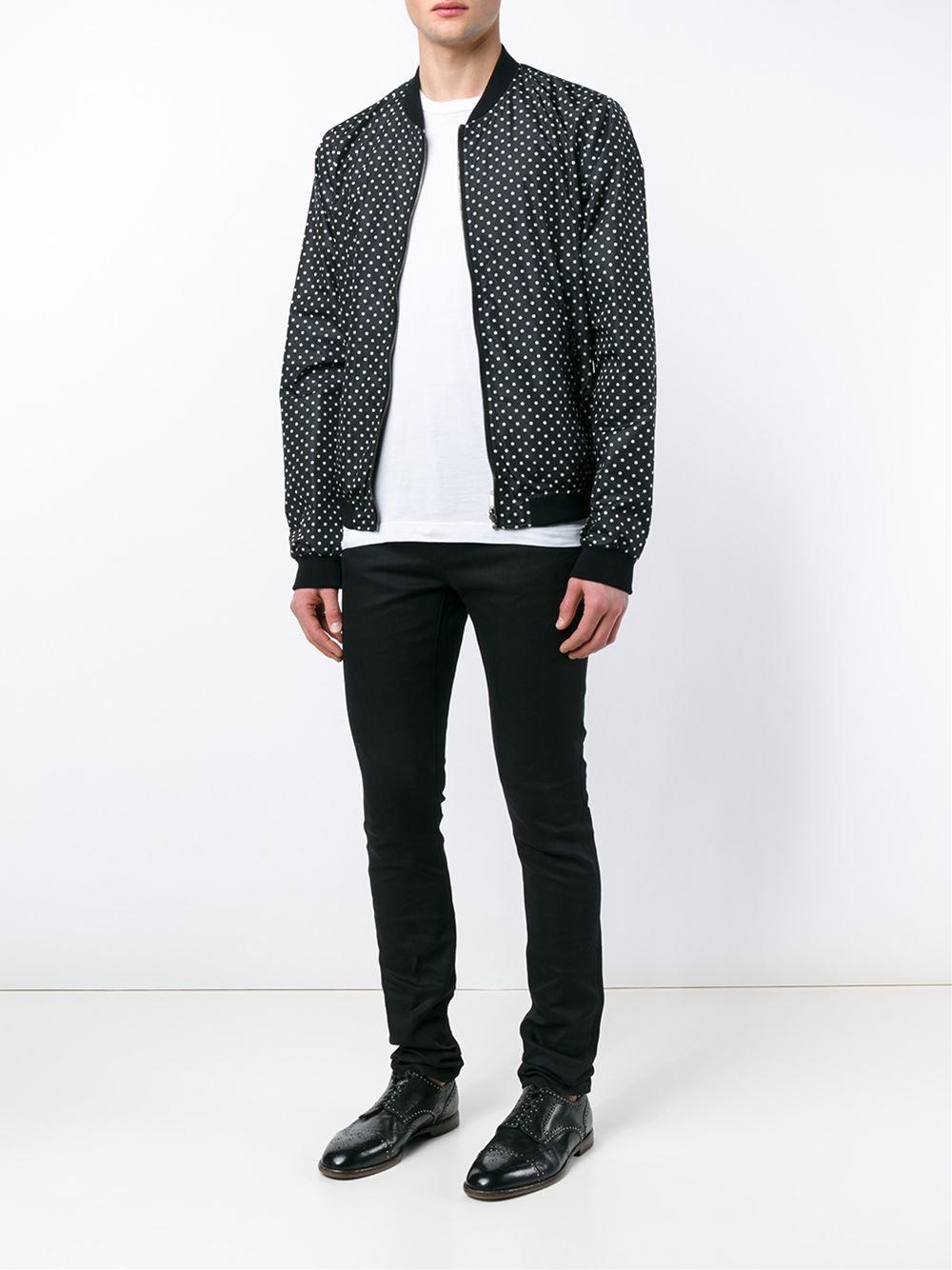 Dolce & Gabbana - Reversible Polka Dot Bomber Jacket - Men - Polyamide - 50 in Black for Men