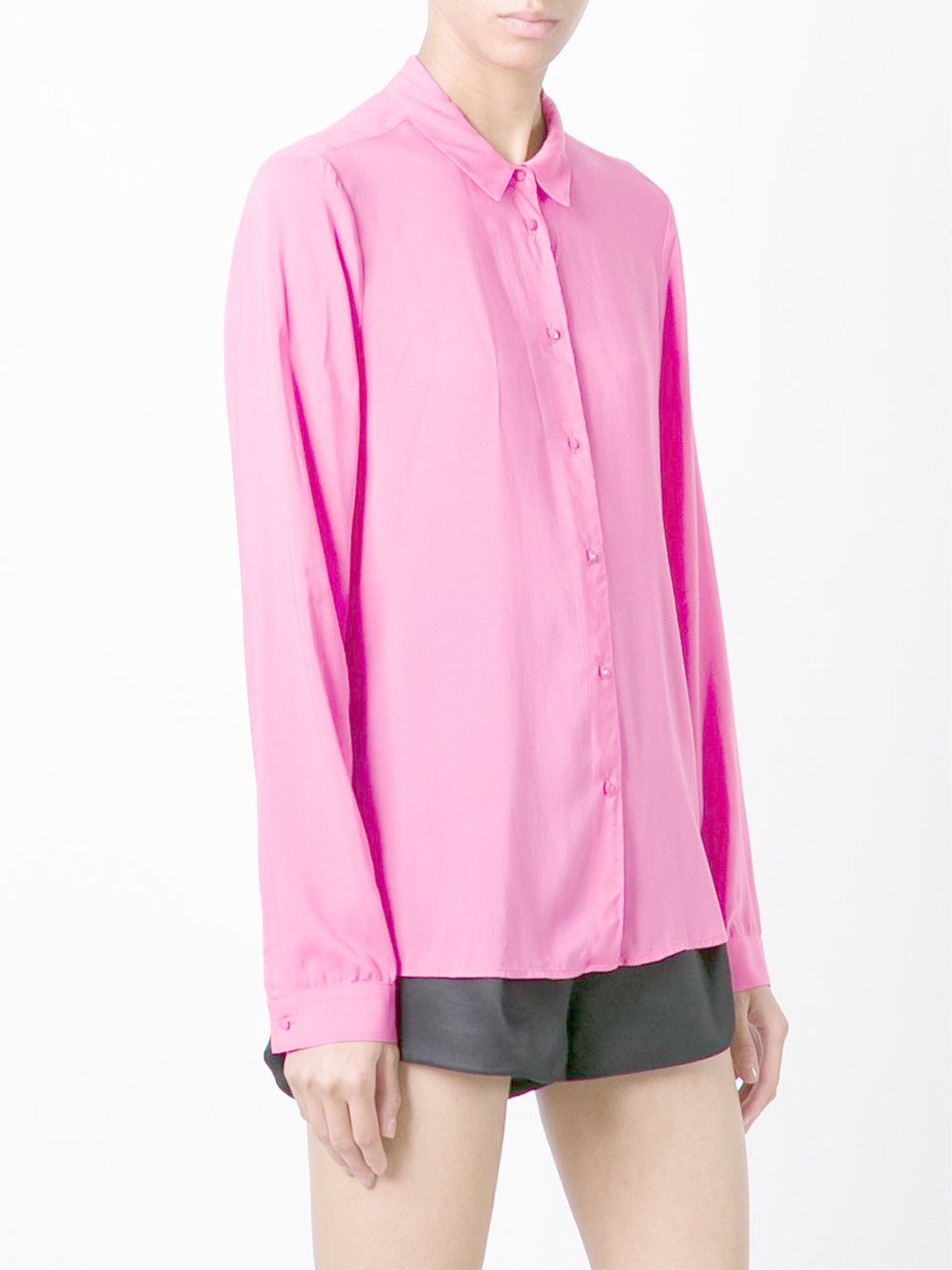 Lyst Armani Jeans Button Down Shirt In Pink