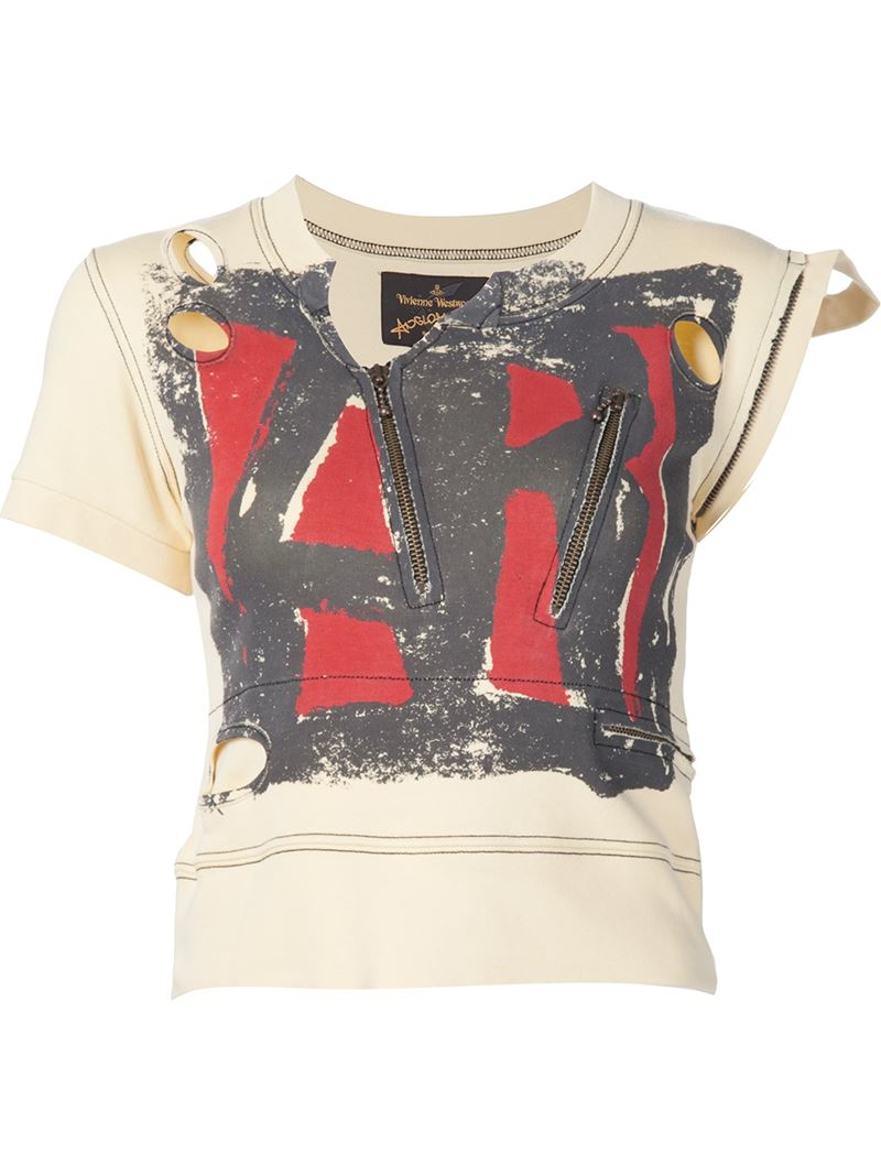 vivienne westwood anglomania ar print 39 punk 39 t shirt in. Black Bedroom Furniture Sets. Home Design Ideas