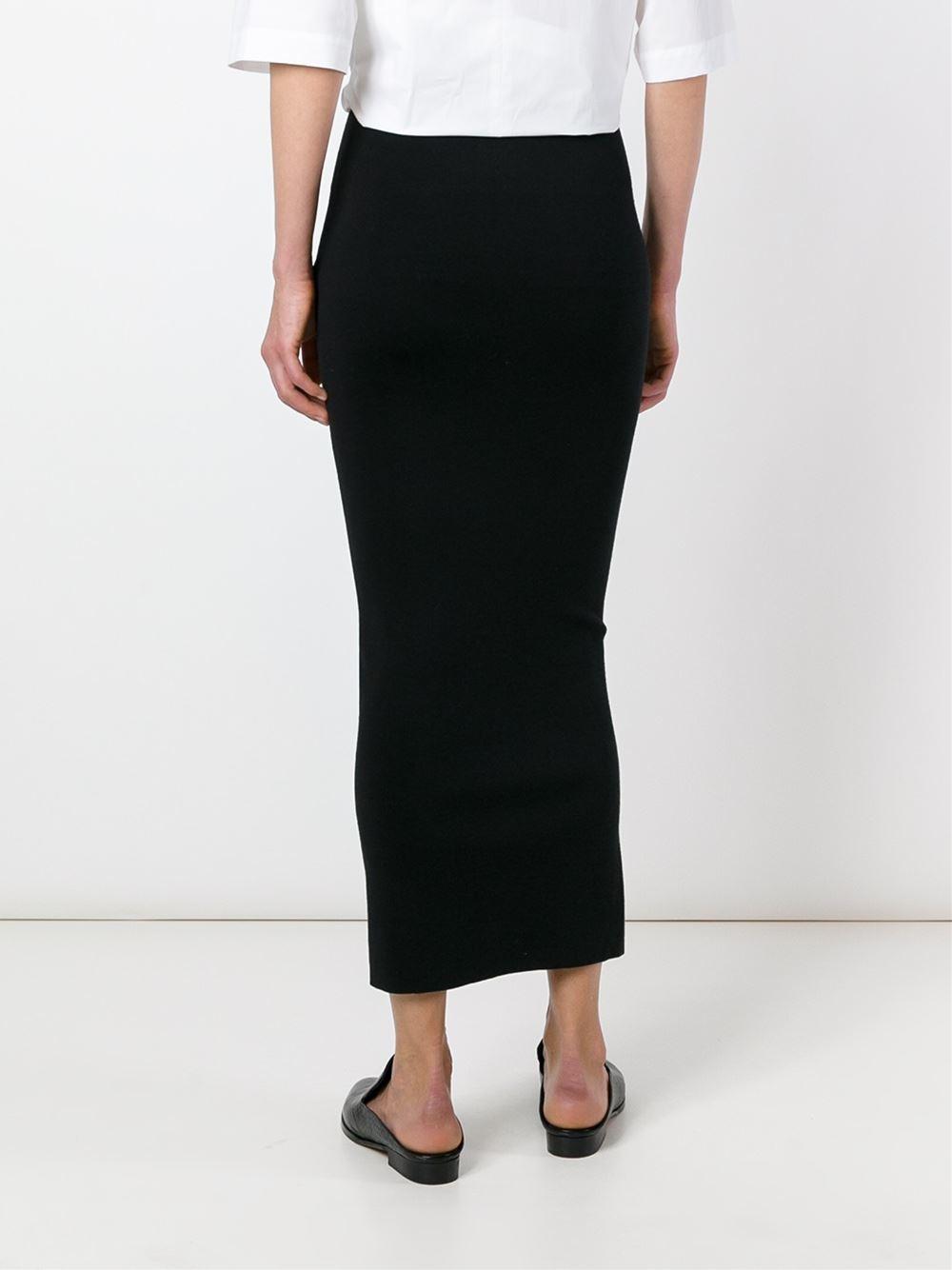 joseph classic fitted midi skirt in black lyst