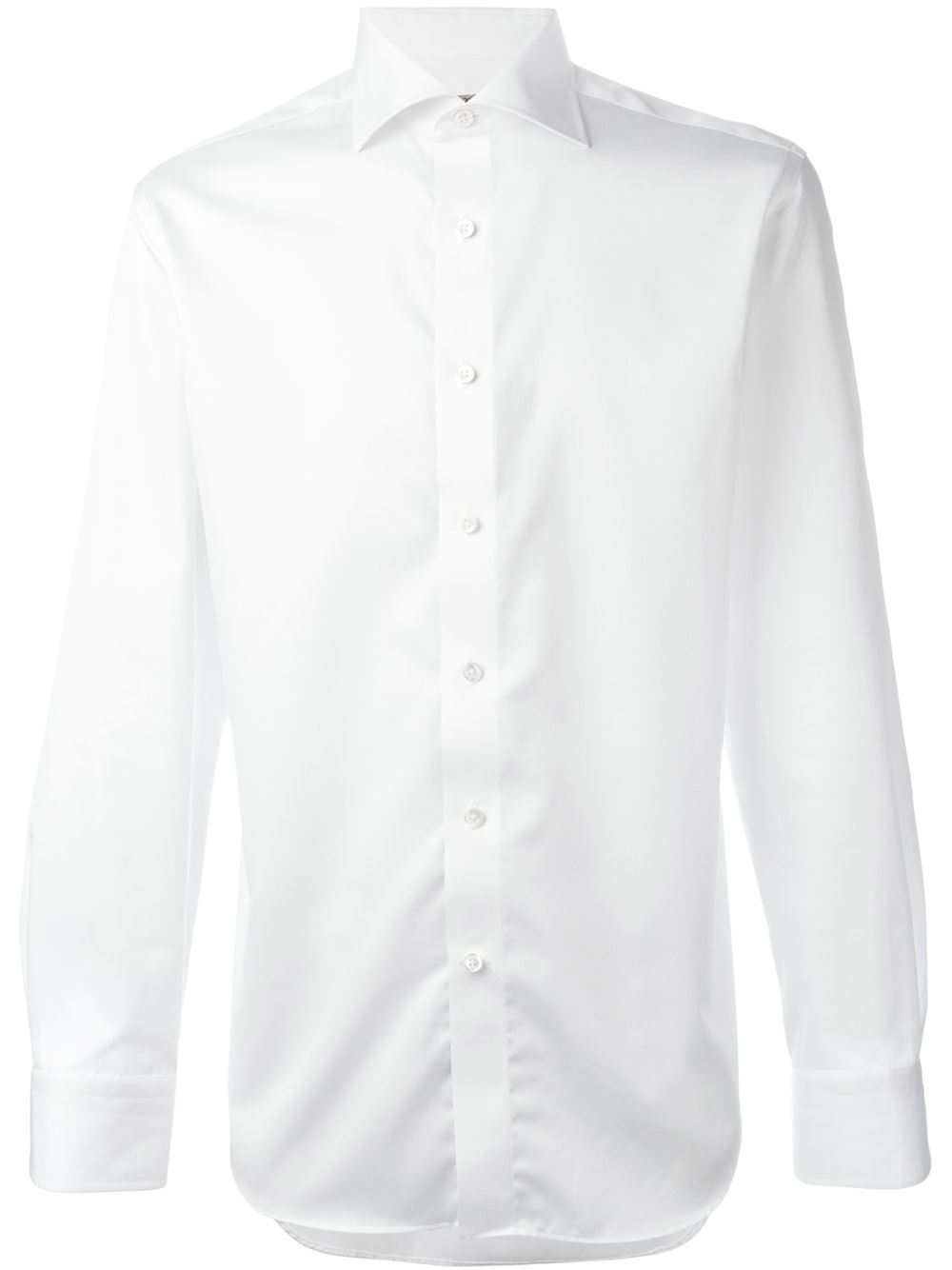 canali spread collar shirt in white for men lyst