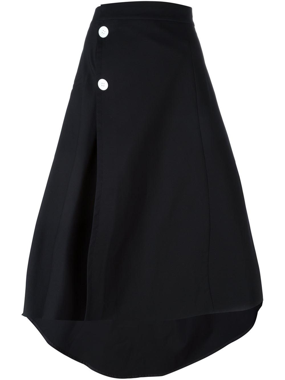 marni flared midi skirt in black save 60 lyst