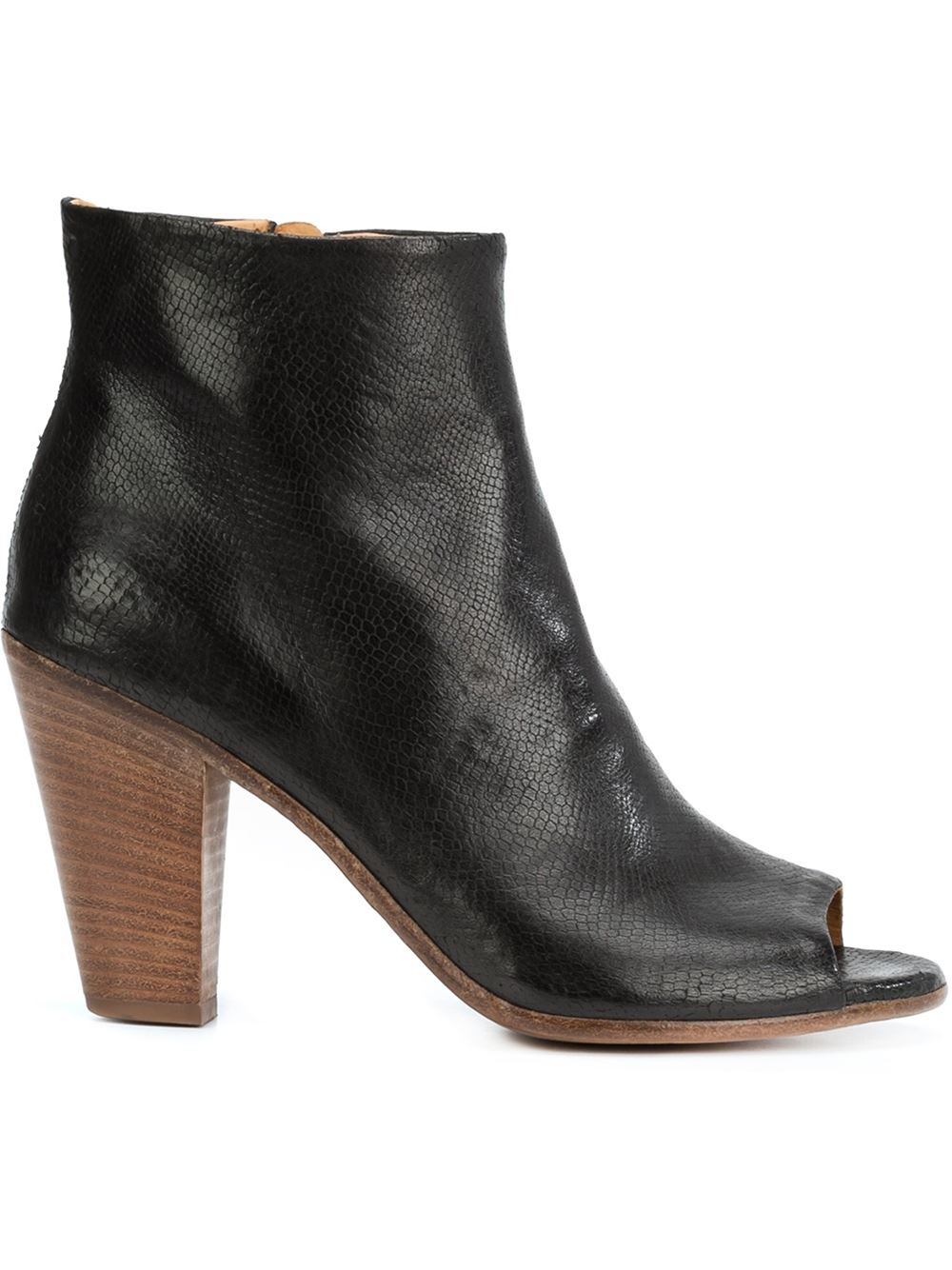 officine creative peep toe ankle boots in black lyst