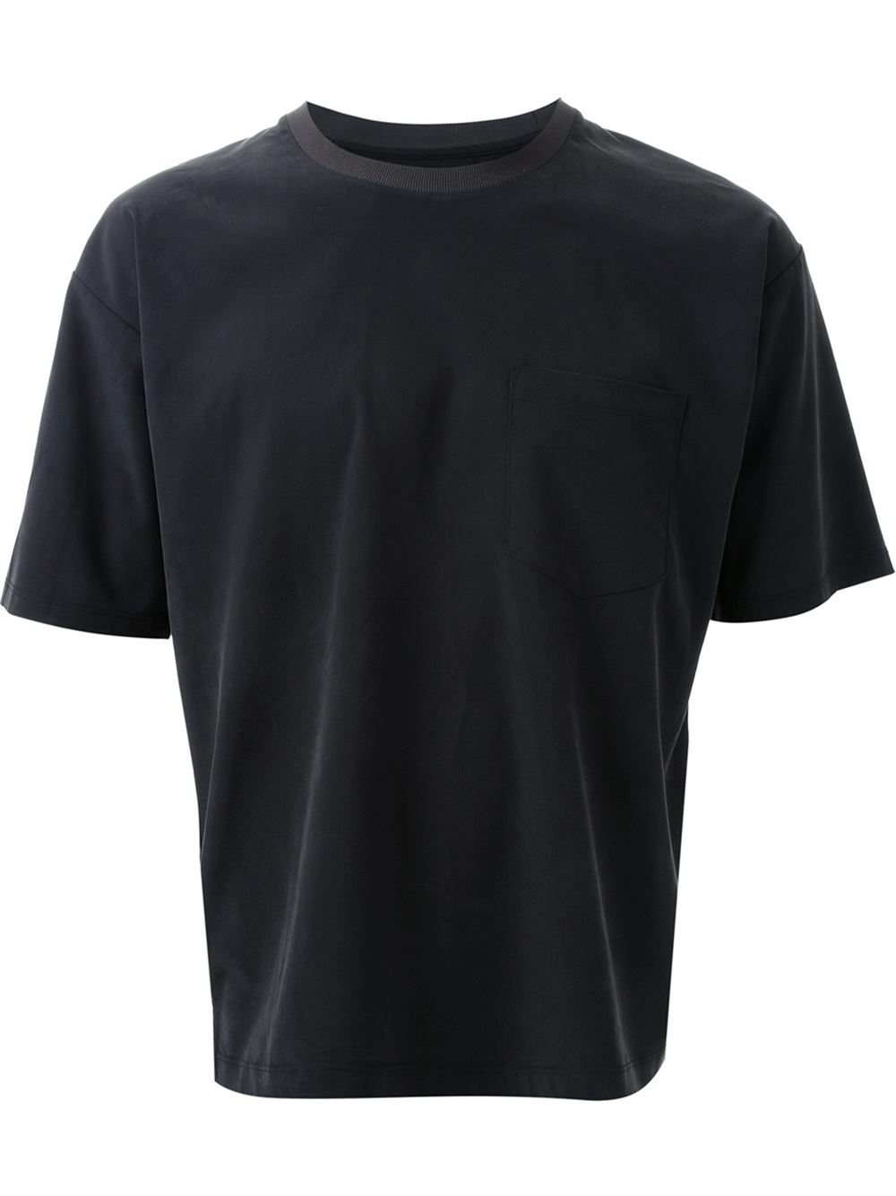 Wooyoungmi Front Pocket T Shirt In Black For Men Lyst