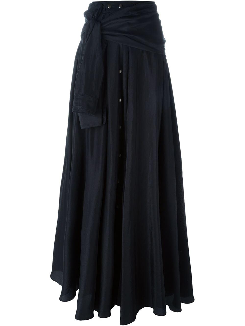 faith connexion shirt style maxi skirt in black save 31