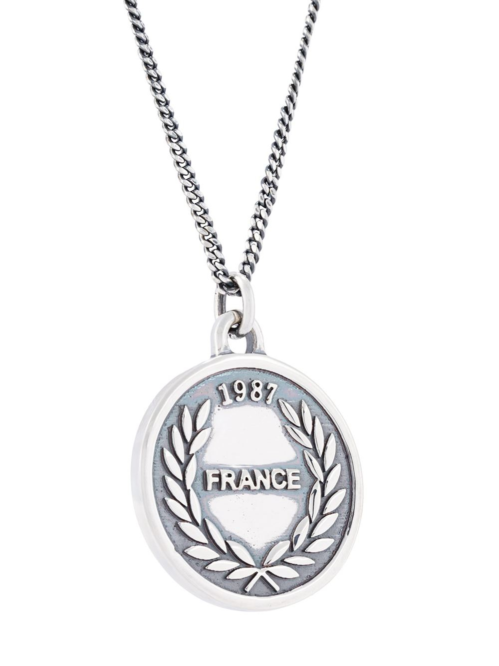 A.P.C. 'money' Charm Necklace in Metallic