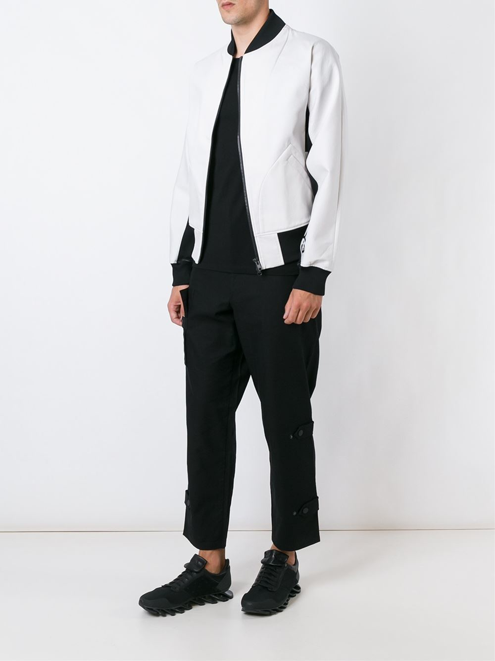 Y-3 Cotton Side Strap Trousers in Black for Men
