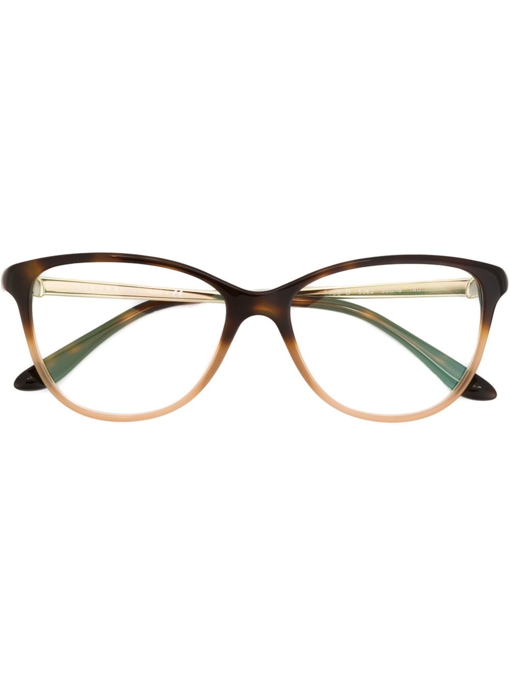 Eyeglass Frames Two Tone : Bvlgari Two-tone Glasses in Brown Lyst