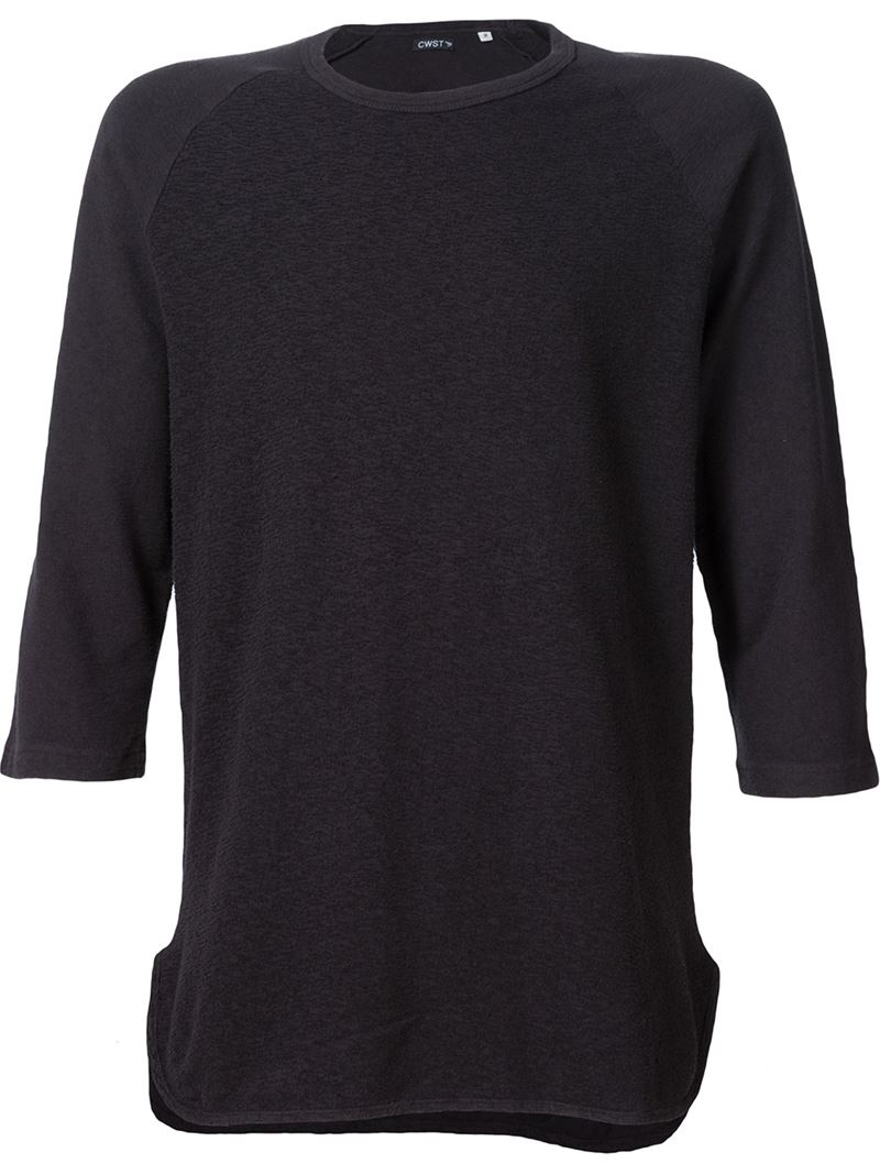 Cwst Three Quarter Sleeve T Shirt In Multicolor For Men