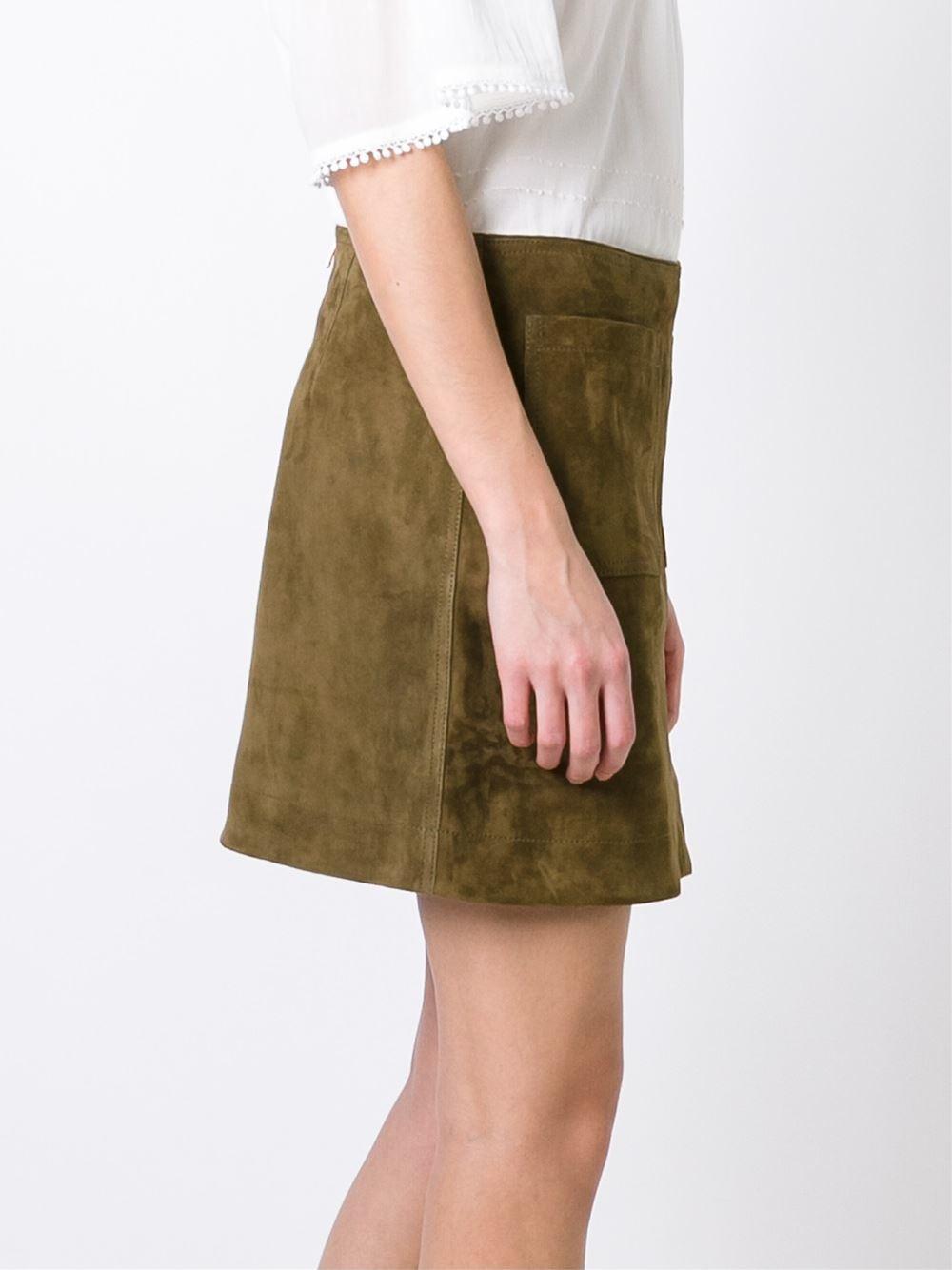 Brown Straight Skirt 96