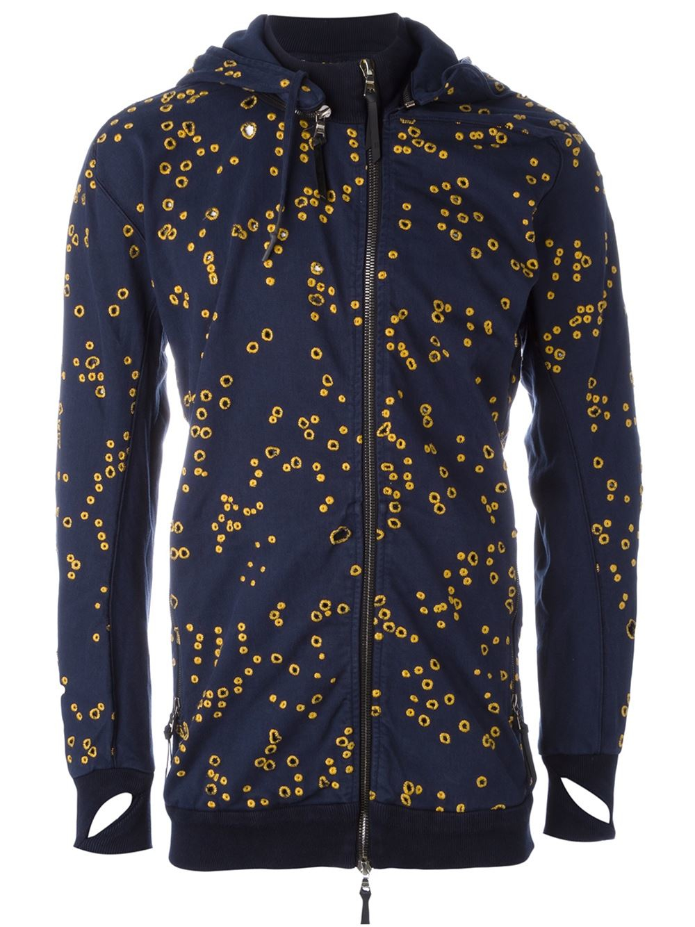 Lyst Boris Bidjan Saberi 11 Perforated Hooded Jacket In
