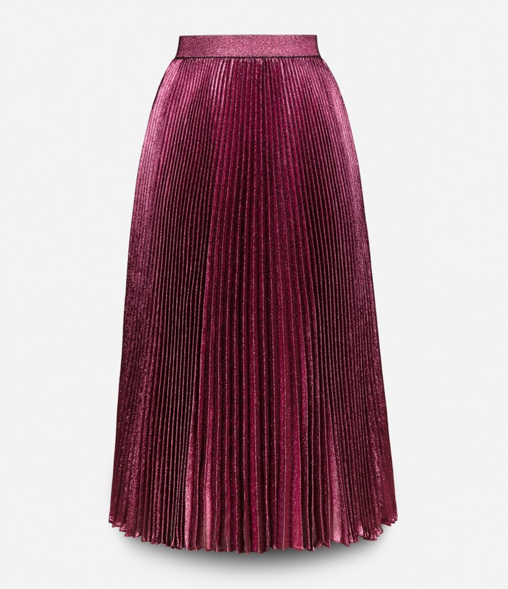 christopher lam 233 pleated skirt in multicolor pink