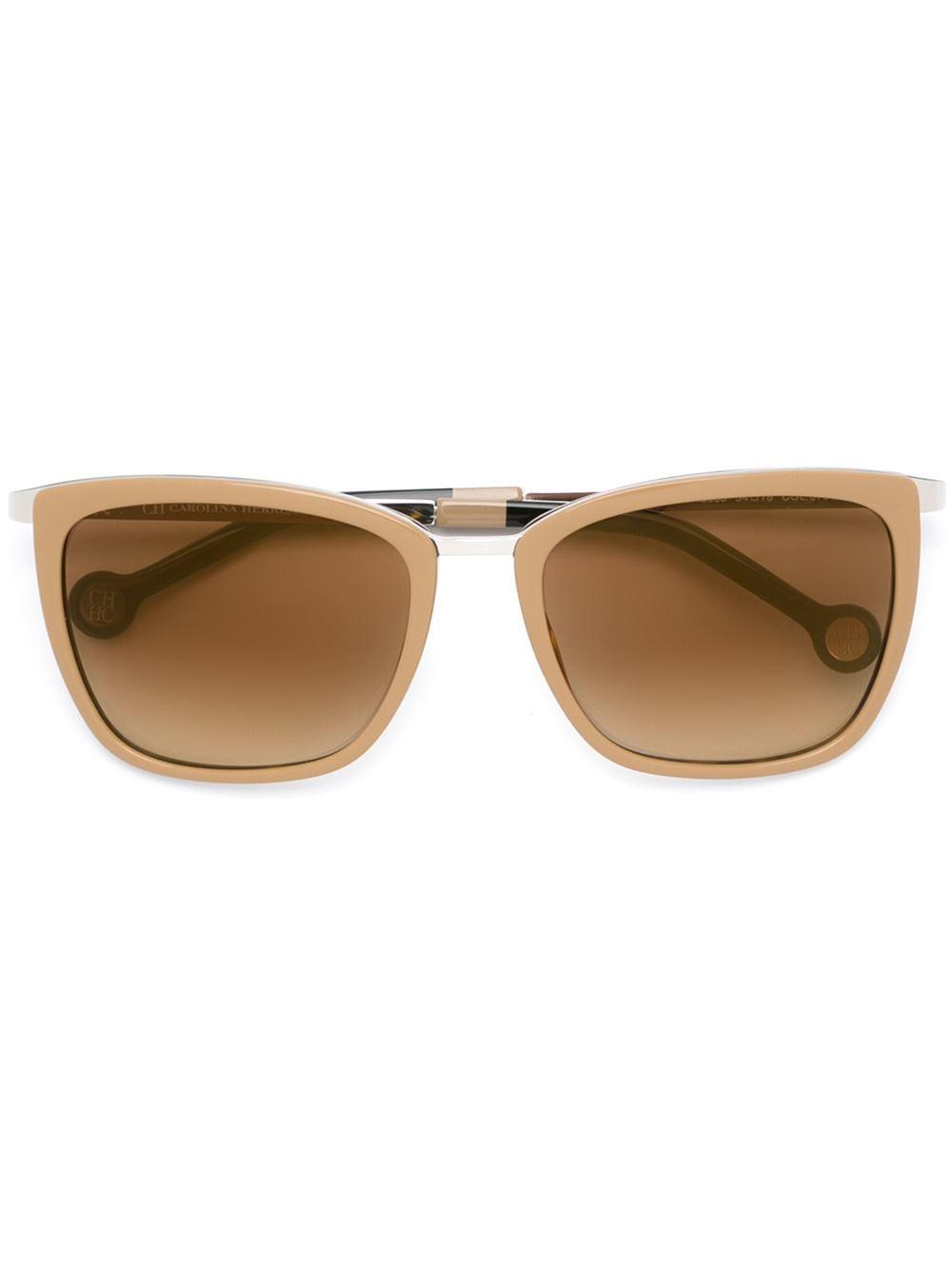 Lyst - Carolina Herrera Square Frame Sunglasses-5725