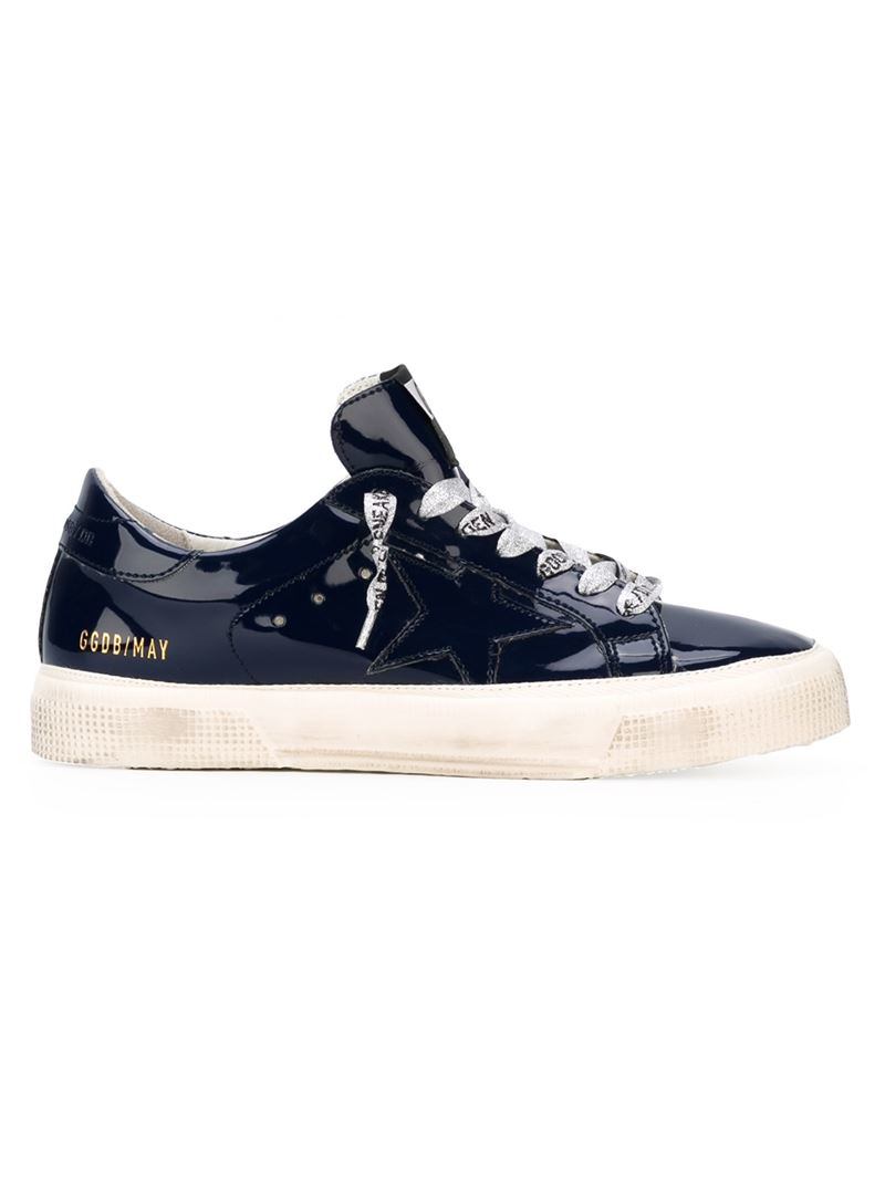 golden goose deluxe brand 39 may 39 sneakers in blue lyst. Black Bedroom Furniture Sets. Home Design Ideas