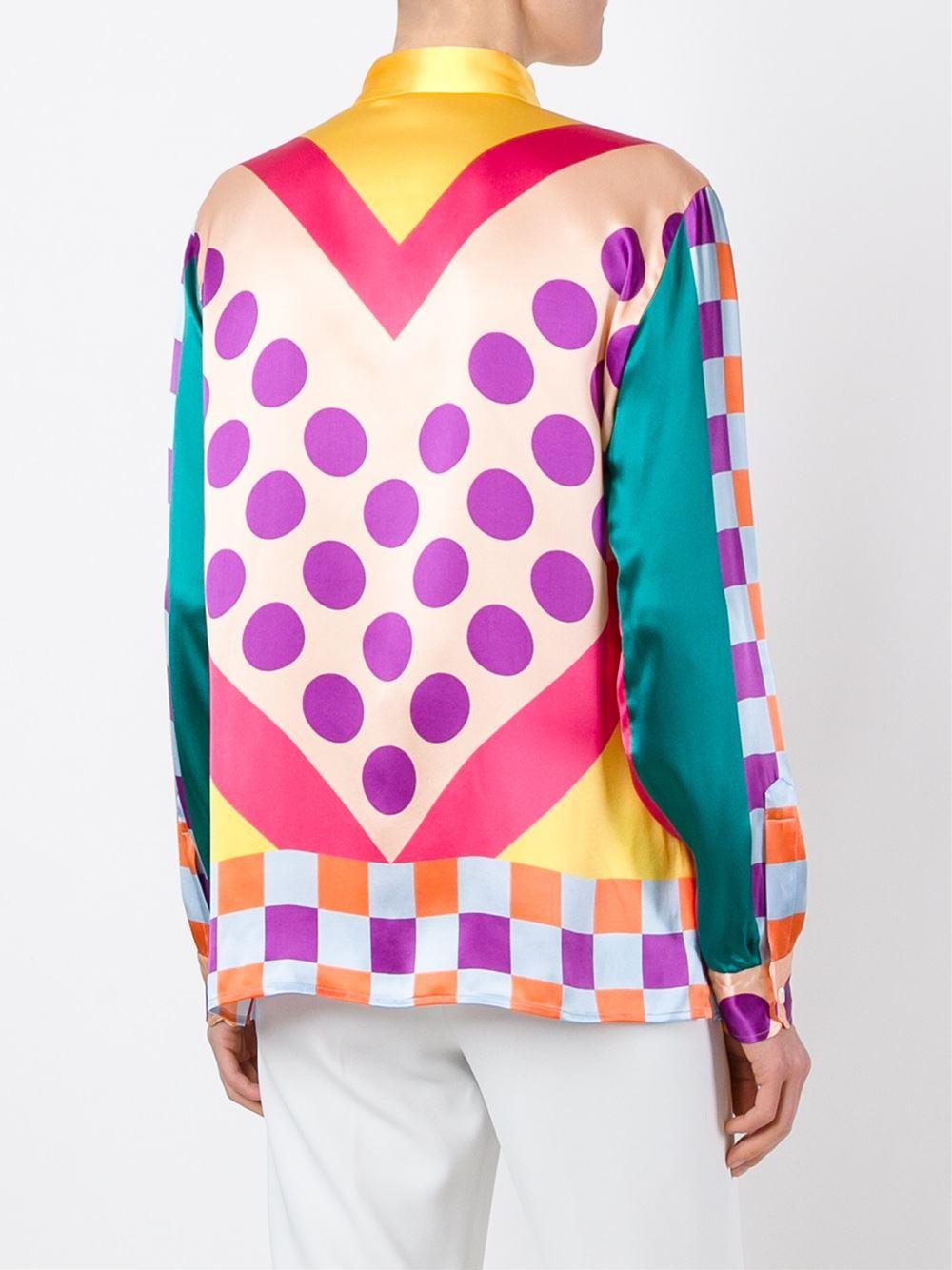Etro Multi Pattern Button Down Shirt Lyst