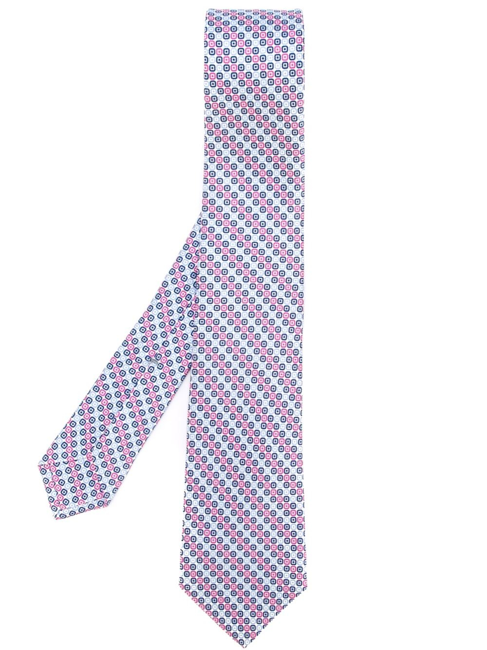 kiton striped tie in blue for lyst