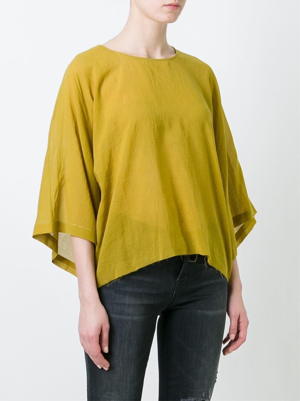 Lyst Simon Miller Kimono Sleeve Blouse In Yellow