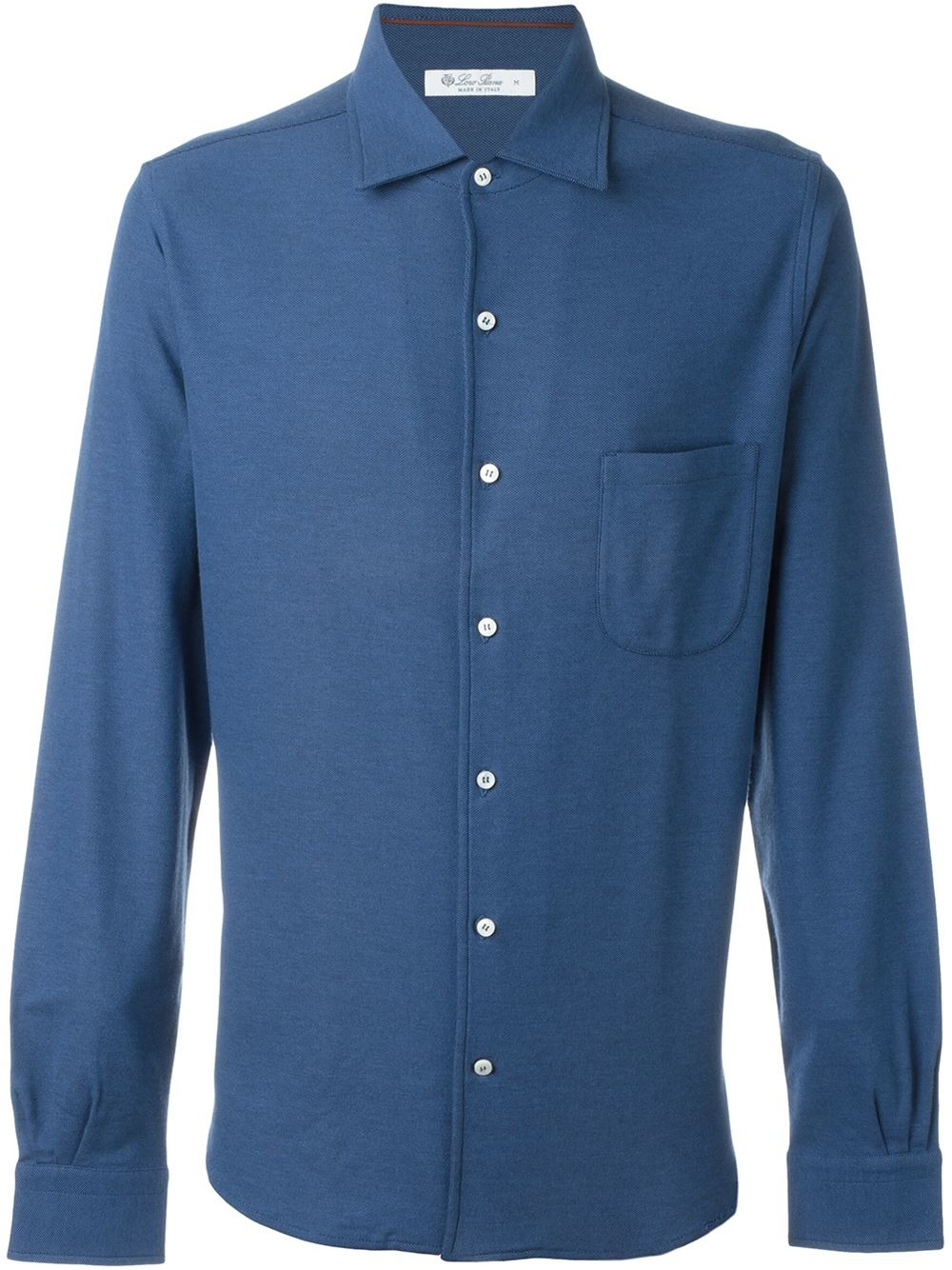 Loro piana classic button down shirt in blue for men lyst for Preppy button down shirts