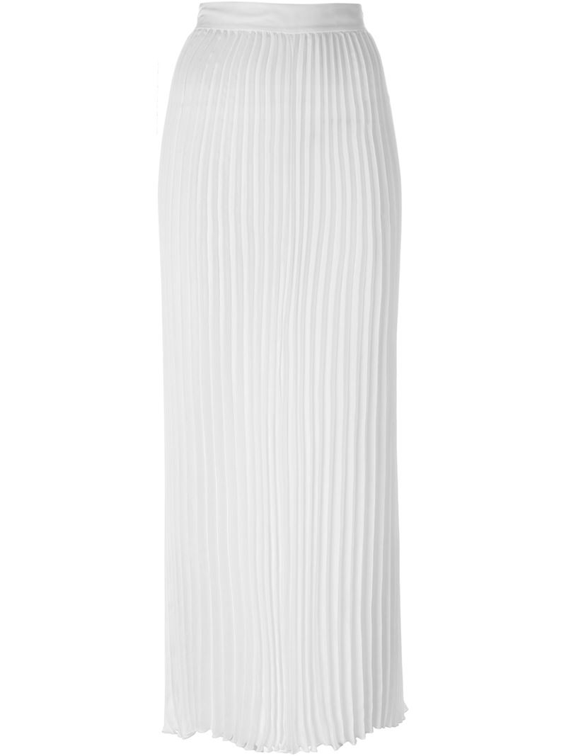 joseph pleated maxi skirt in white save 30 lyst
