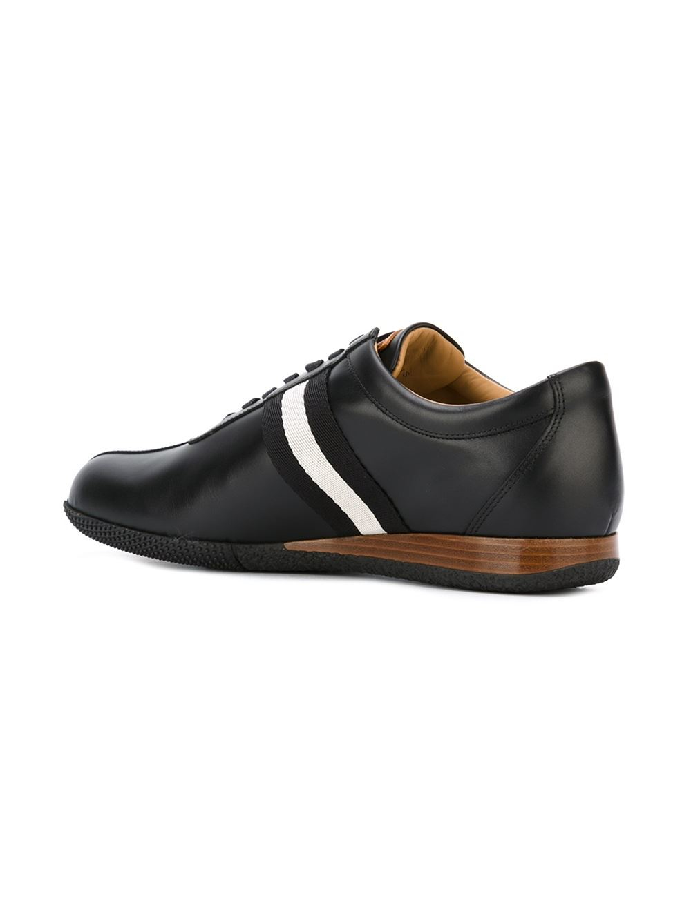 Bally Frenz Leather Low Top Sneakers In Black For Men Lyst