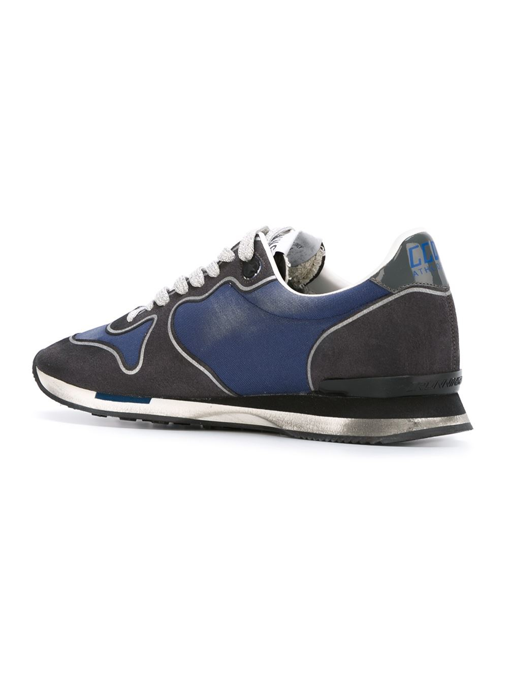 golden goose deluxe brand 39 running 39 sneakers in black for men blue lyst. Black Bedroom Furniture Sets. Home Design Ideas