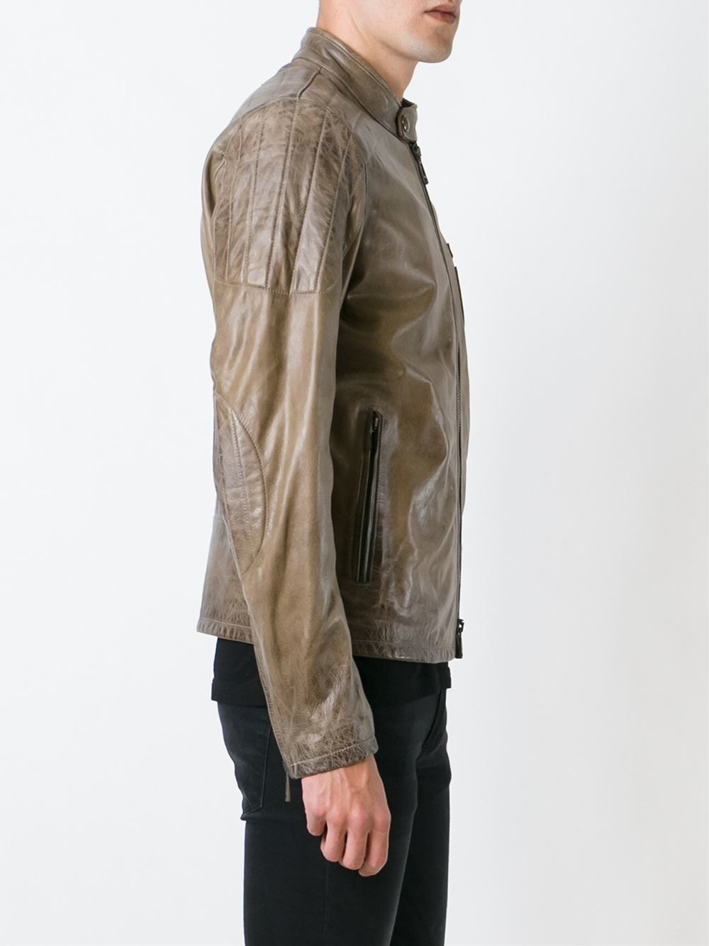 Lyst Belstaff Archer Fc Jacket In Brown For Men