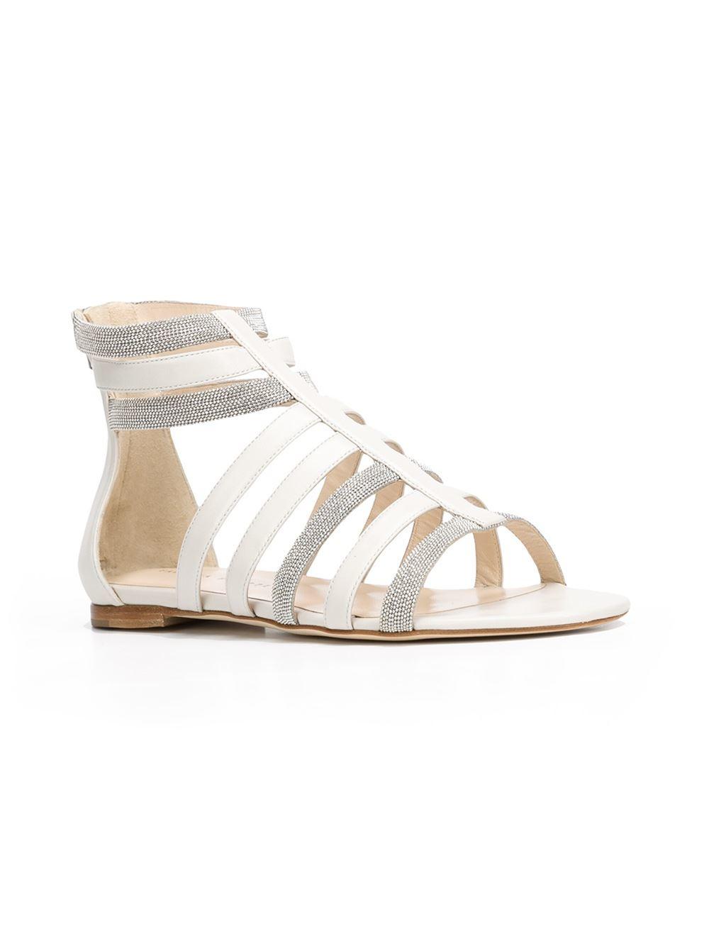 Fabiana Filippi Anastasia Gladiator Sandals In Metallic