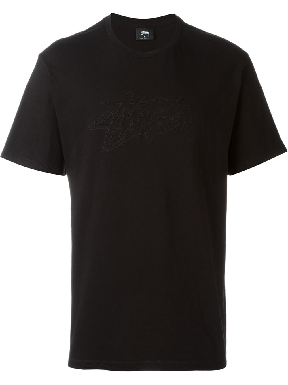 Stussy Embroidered Logo T Shirt In Black For Men Lyst
