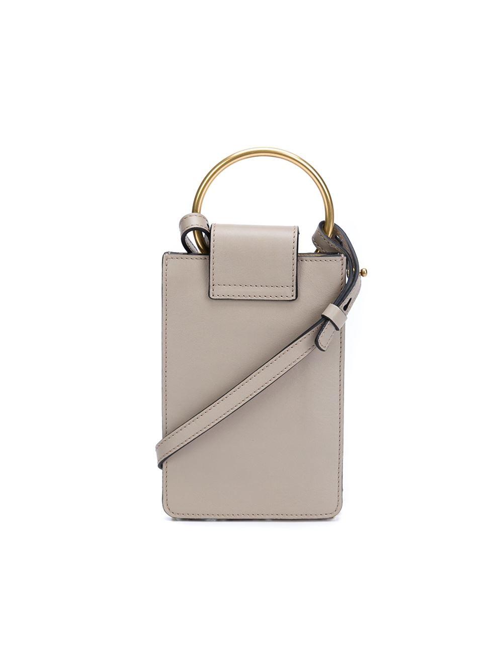 chlo jane mini tassel bag gray in black lyst. Black Bedroom Furniture Sets. Home Design Ideas