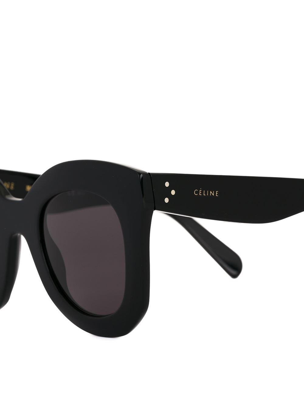 bffd45f892 Celine Black Sunglasses Cat Eye