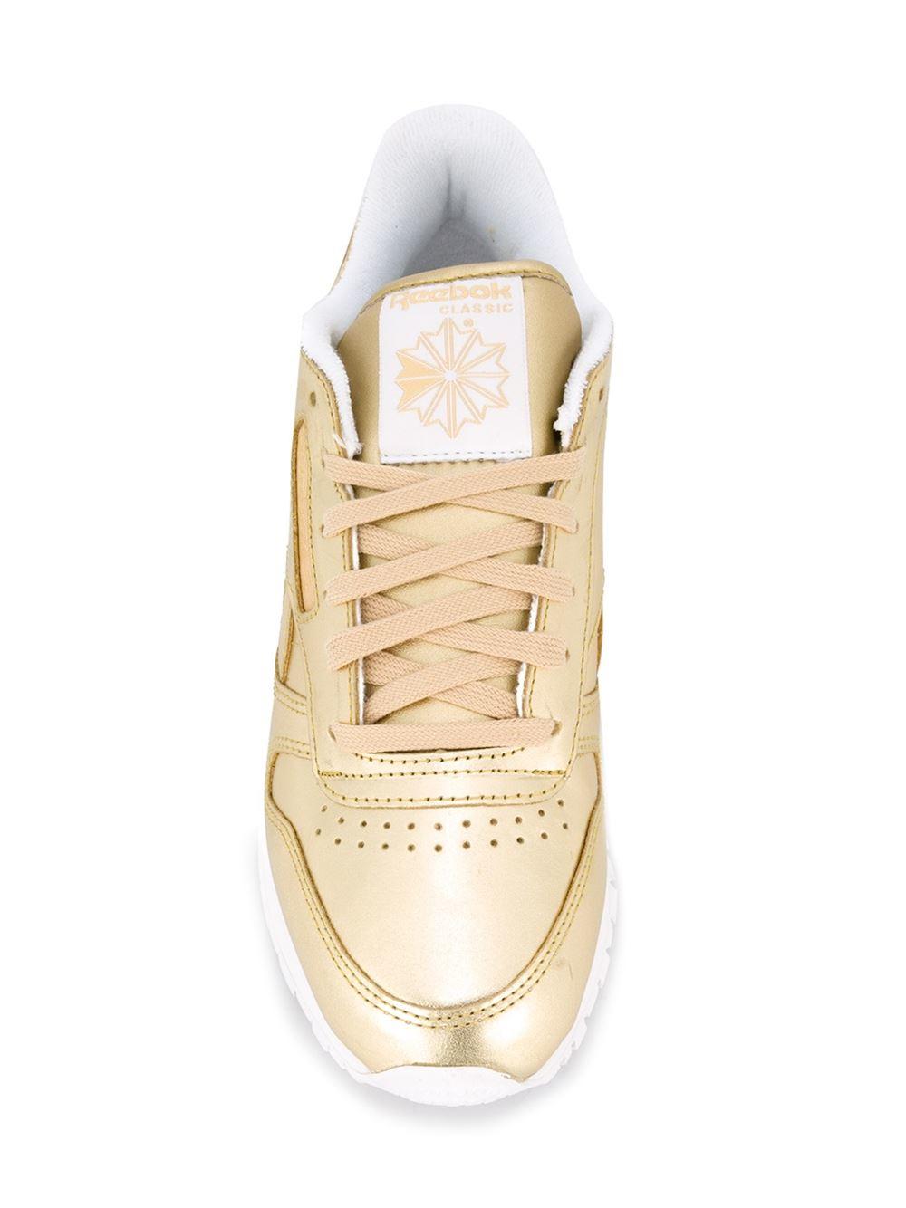 Reebok Leather Classic Spirit x FACE Stockholm Sneakers in Metallic