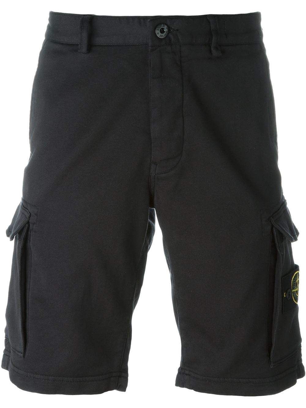 stone island cargo shorts in black for men lyst. Black Bedroom Furniture Sets. Home Design Ideas
