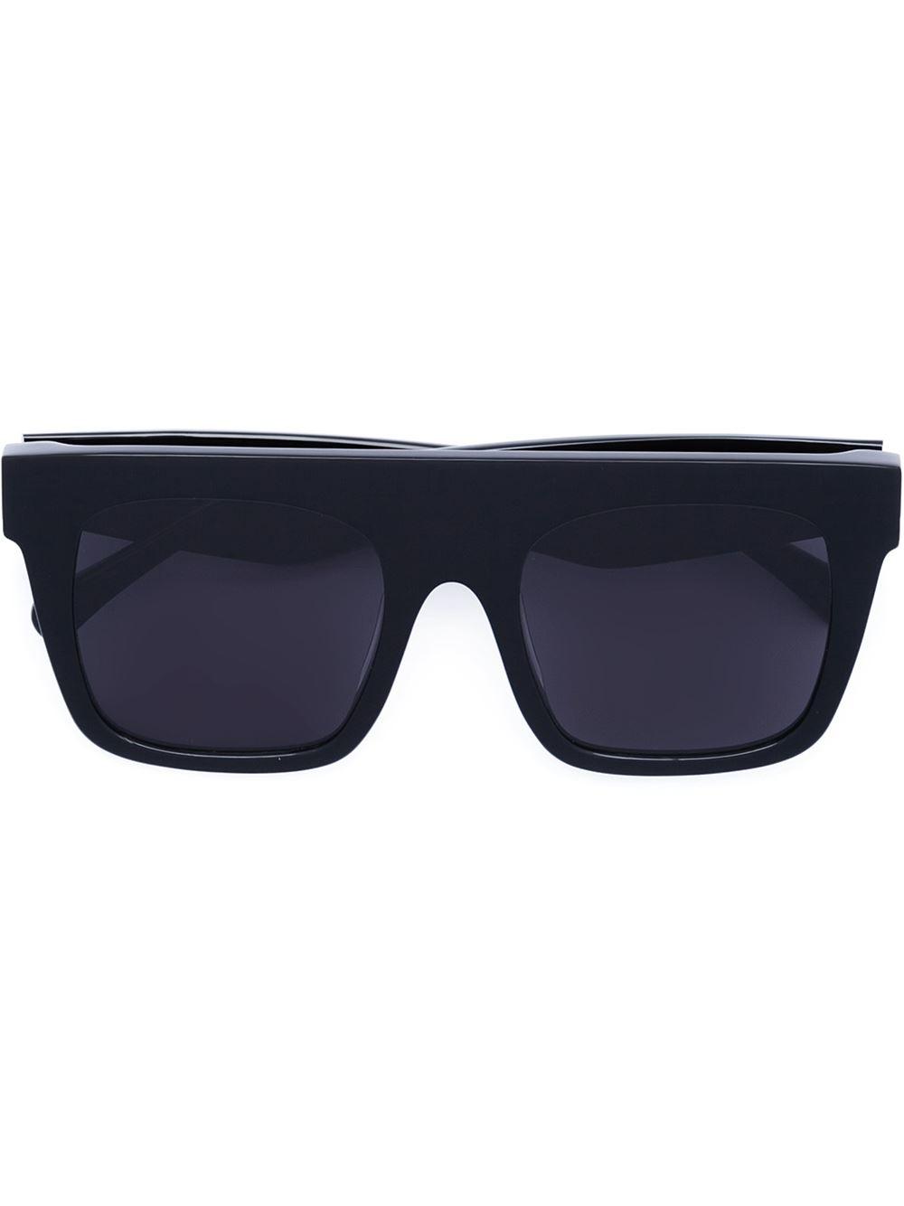 Black Frame Square Glasses : Vera wang Square Frame Sunglasses in Black Lyst