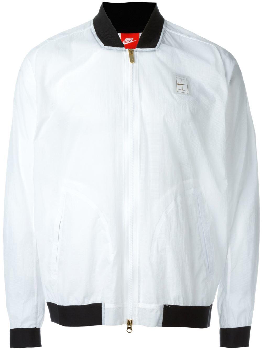 Nike Court Bomber Jacket In White For Men Lyst