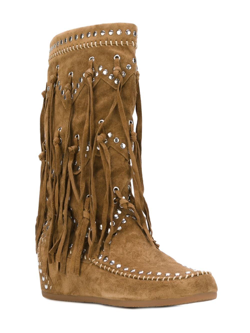 Ash Cotton 'shilo' Boots in Brown