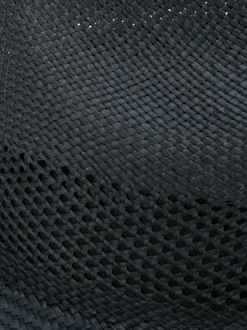 Paul Smith Woven Detail Hat Men Straw M In Black