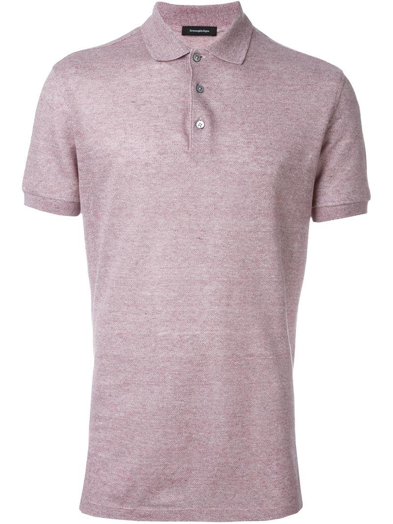 Lyst ermenegildo zegna classic polo shirt in gray for men for Zegna polo shirts sale