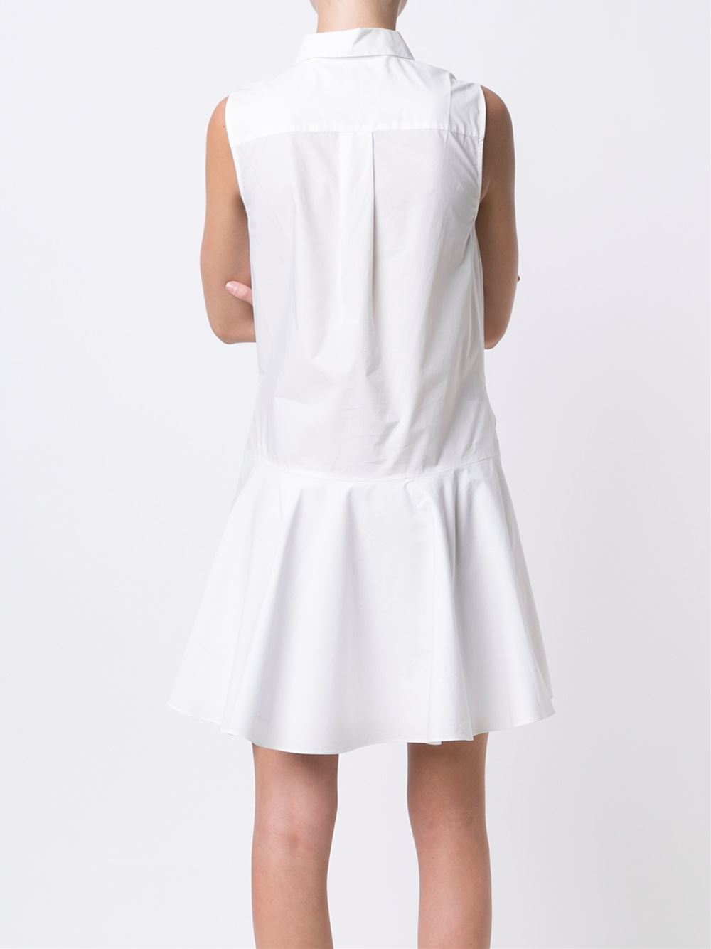 10 Crosby Derek Lam Sleeve Knot Shirt Dress In White Lyst