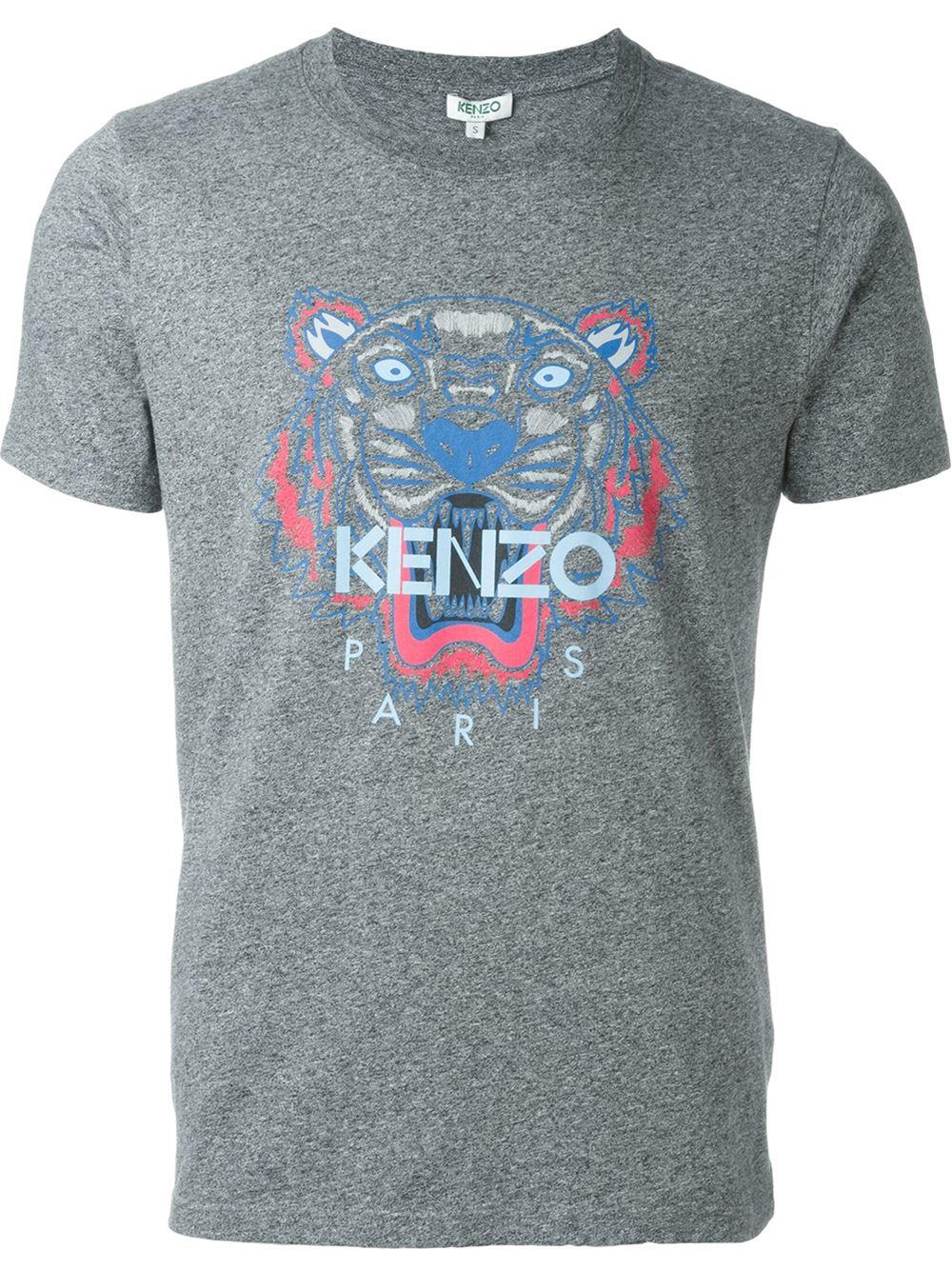 kenzo 39 tiger 39 t shirt in blue for men lyst. Black Bedroom Furniture Sets. Home Design Ideas