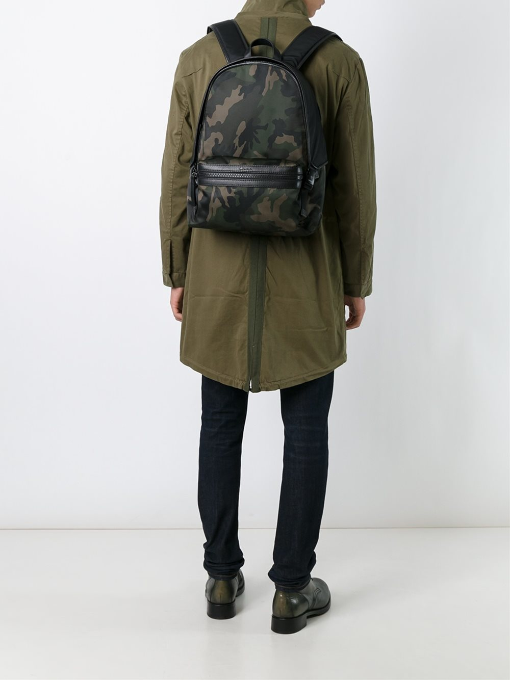 Moncler Synthetic 'george' Backpack in Green for Men