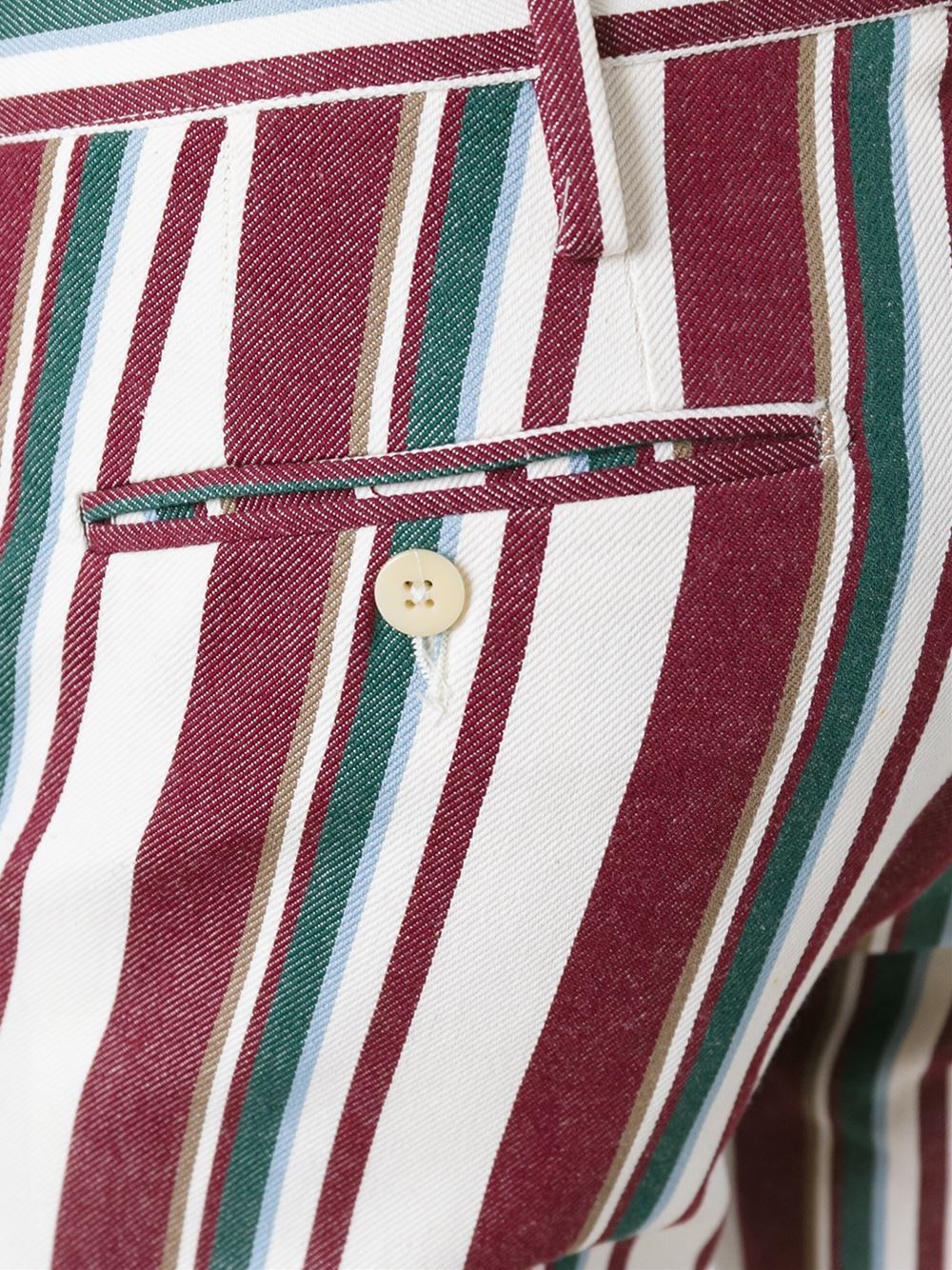 Romeo Gigli Cotton Striped Trousers for Men