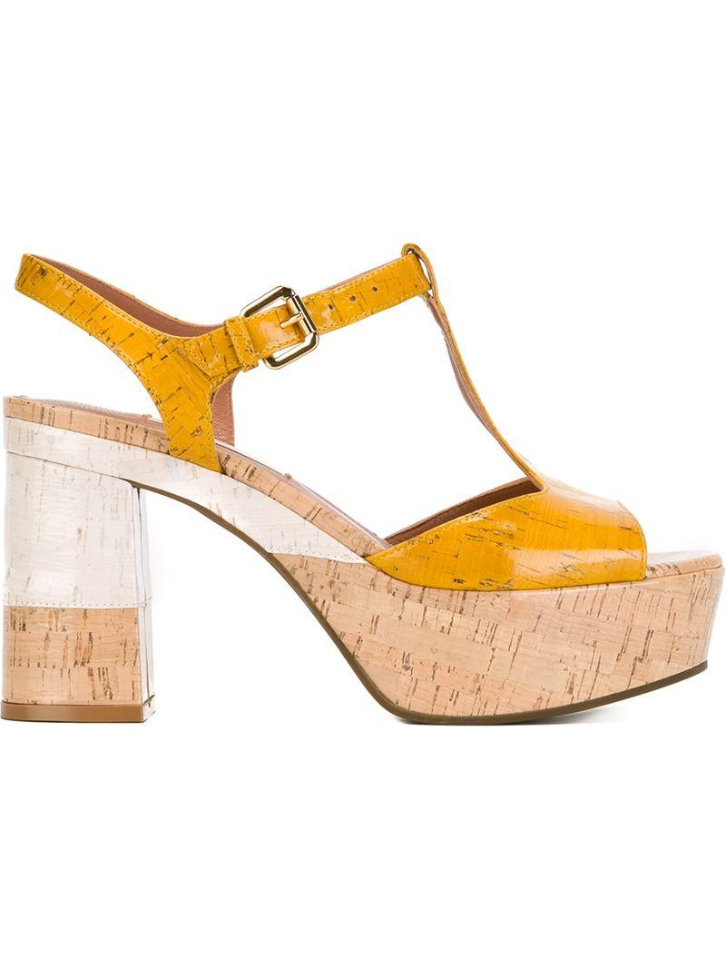 c67c9588bbc3 L Autre Chose Platform Sandals in Yellow - Lyst