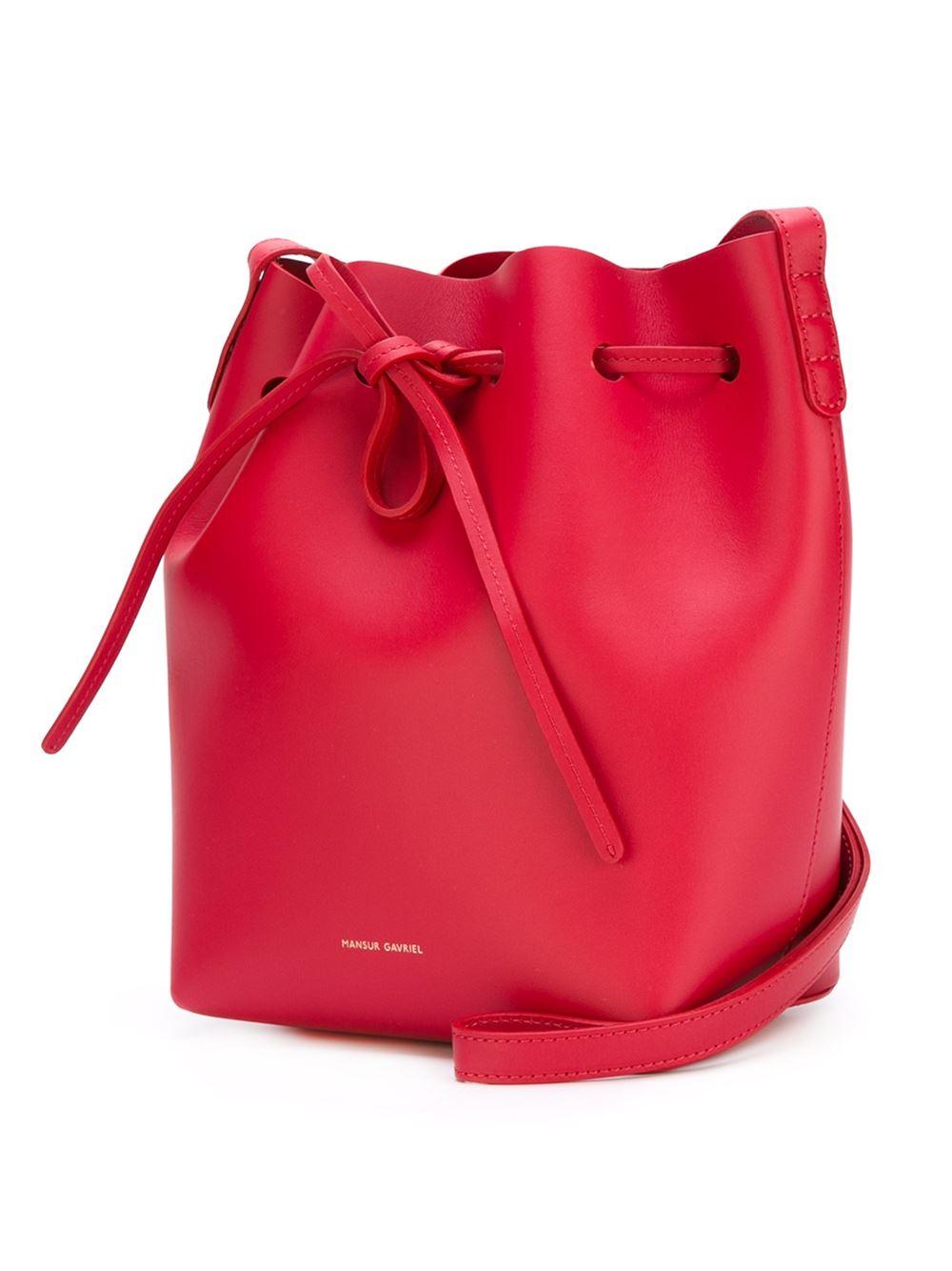 mansur gavriel bucket bag in red lyst. Black Bedroom Furniture Sets. Home Design Ideas