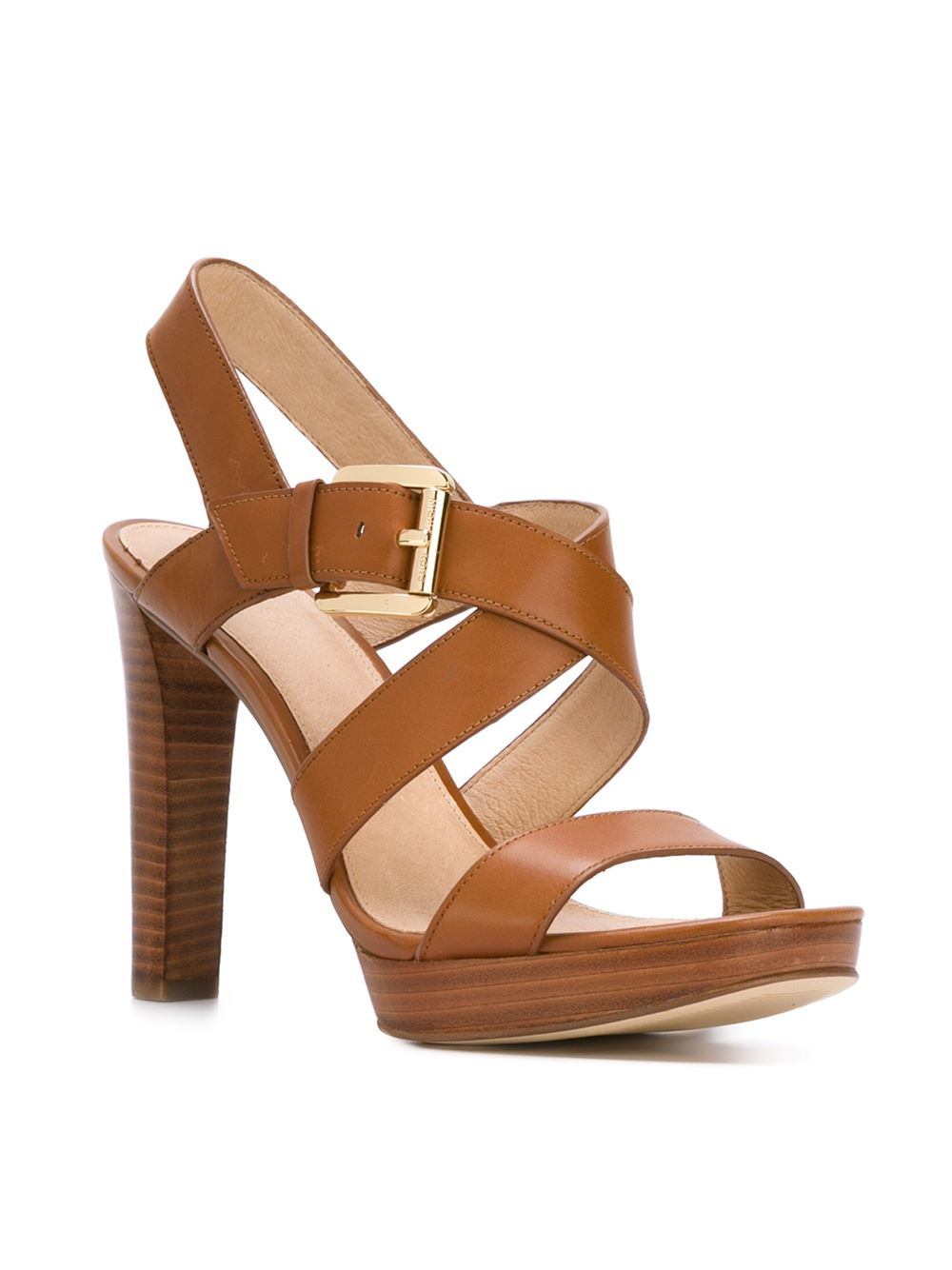 Michael Michael Kors Strappy Sandals In Brown Lyst