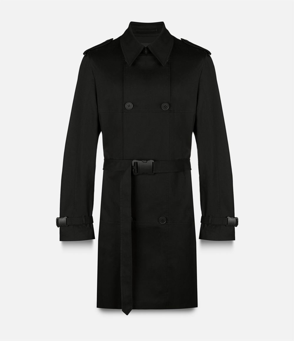 Christopher kane Safety Buckle Trench Coat in Black for ...