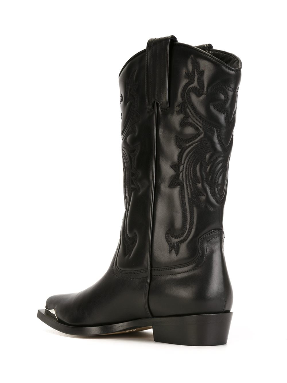 Lyst Philippe Model Cowboy Arizona Leather Boots In Black