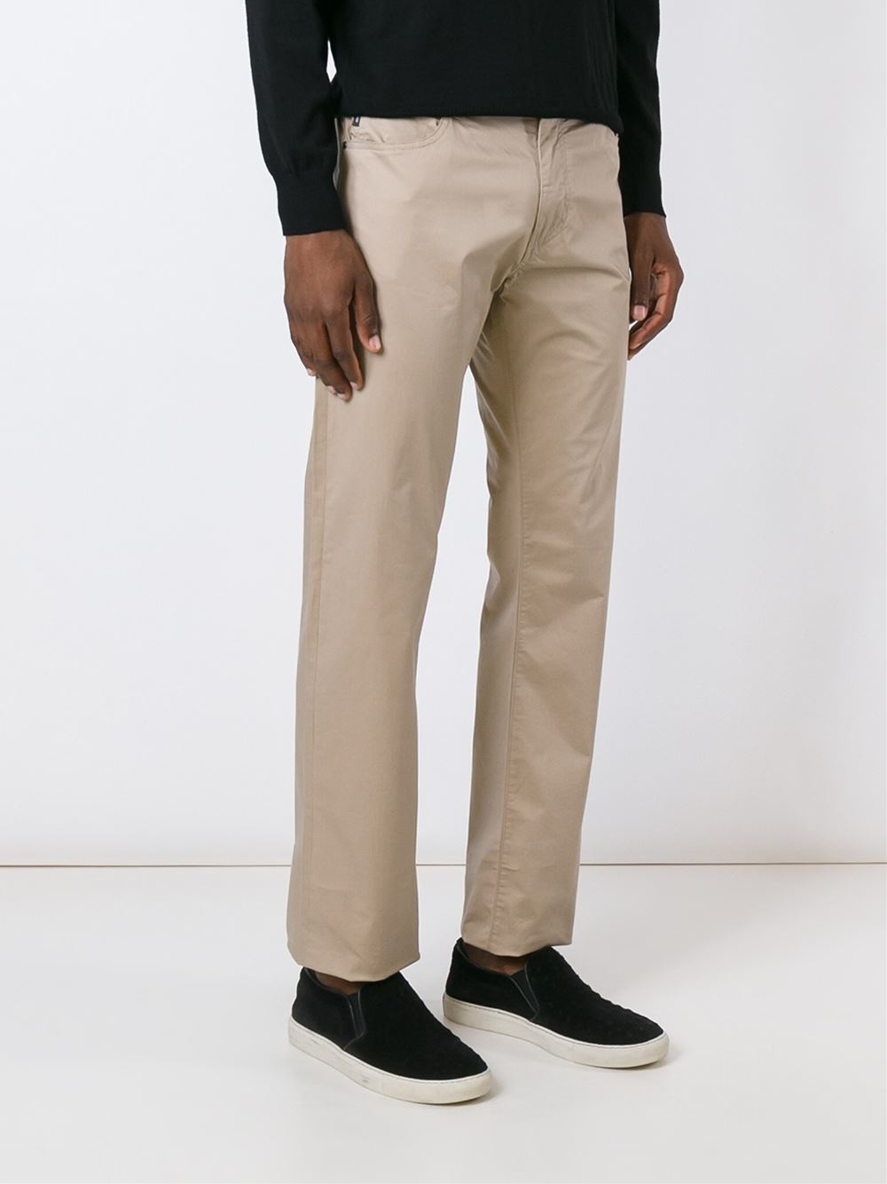 Lyst - Armani Jeans Slim Fit Chinos In Black For Men-5042