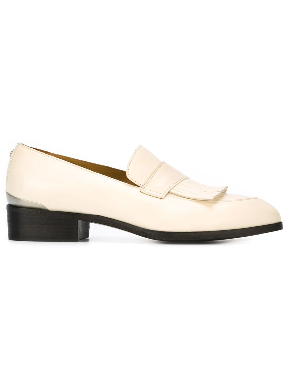 Buttero Leather Penny Loafers in White - Lyst